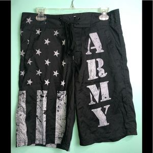 🌺HP🌸ARMY shorts with tie waist. No lining